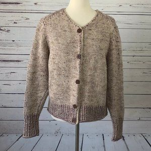 Sundance Cardigan Sweater Large Chunky Knit Vneck